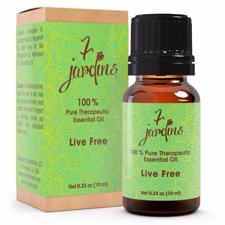 Pain Relief Therapeutic Essential Oil 100  Pure  Live Free  By 7 Jardins   10Ml