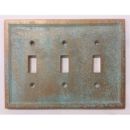 Age Light Switch Covers (Aged Patina - Triple Light Switch)
