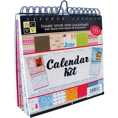 die cuts with a view make your own calendar kit 8 1 2 x 8