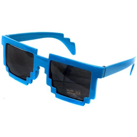 Minecraft Pixelated Sunglasses Accessory [Blue] - Pixelated Sunglasses