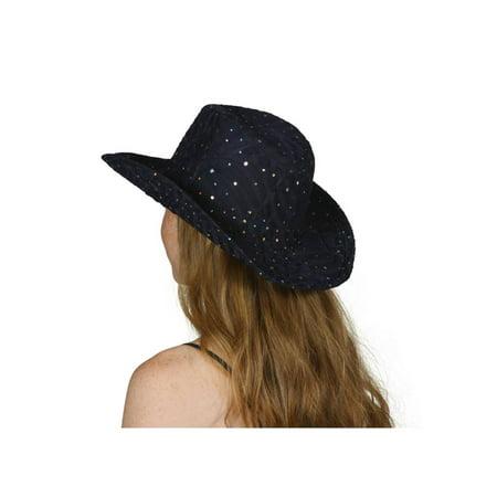 716b251af4a0f TopHeadwear Glitter Sequin Trim Cowboy Hat - Yellow - image 1 of 2 ...