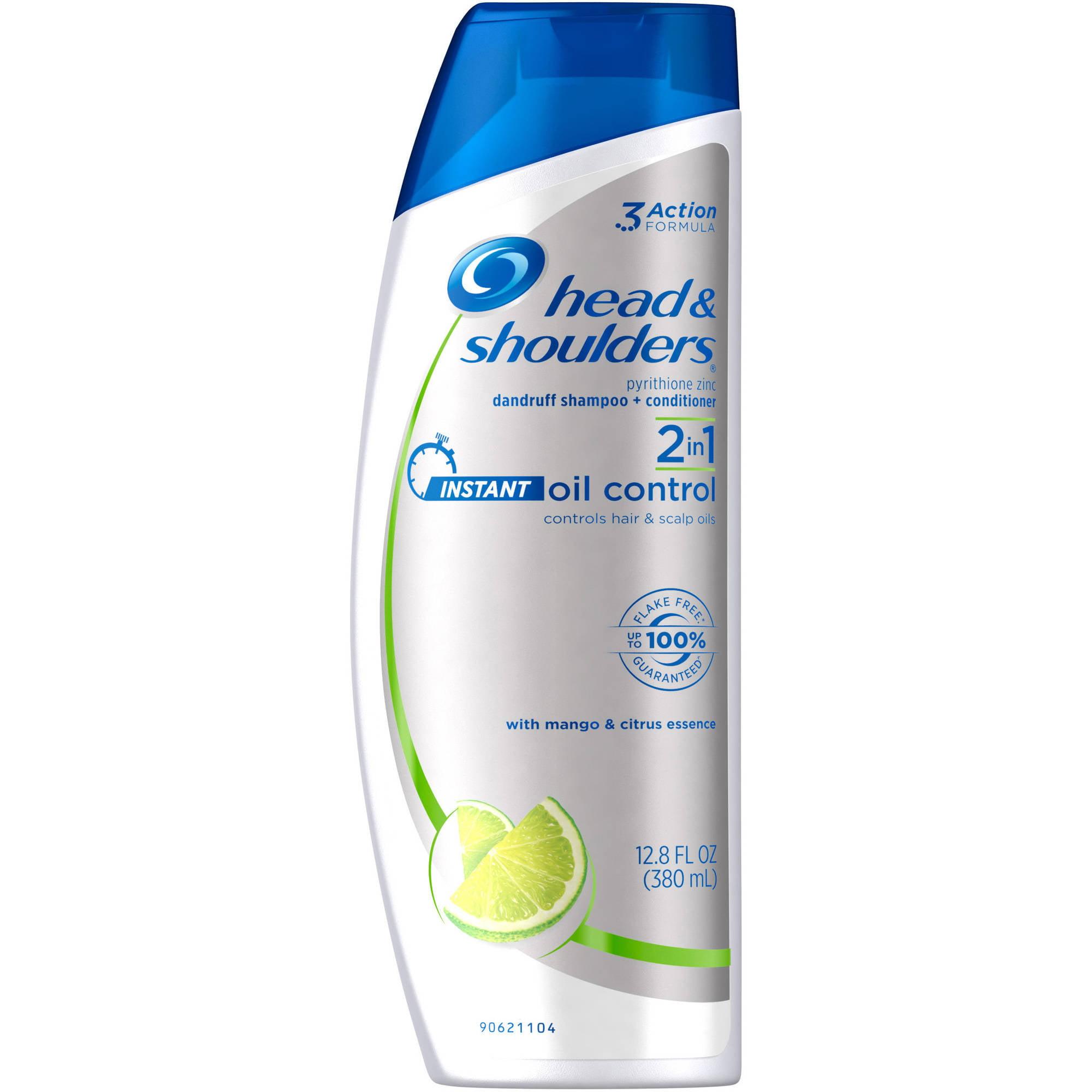 Head & Shoulders Instant Oil Control 2-in-1 Dandruff Shampoo + Conditioner, 12.8 fl oz