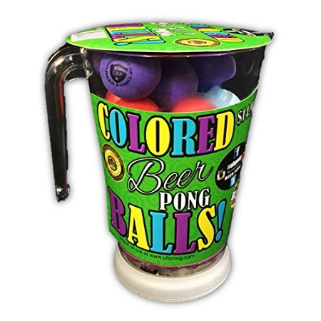 Beer Pong Pitcher with Flashing LED Lights & Assorted Pong - Beer Pitcher Ice