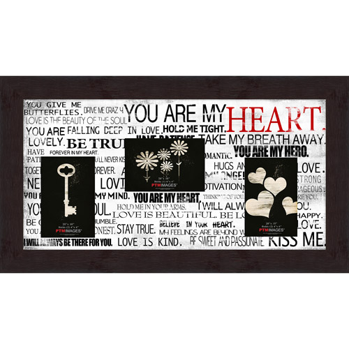 "You Are My Heart VIII 20"" x 10"" Collage Picture Frame"