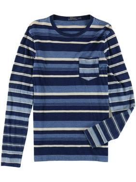 d4189998 Product Image Ralph Lauren Mens Stripe Cotton Basic T-Shirt blue S