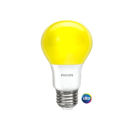 Philips LED Light Bulb, A19, Yellow, 60 WE