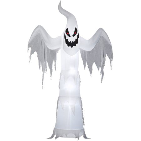 Halloween Airblown Inflatable 12 ft. Giant Ghost (Inflatable Cat Halloween Decorations)