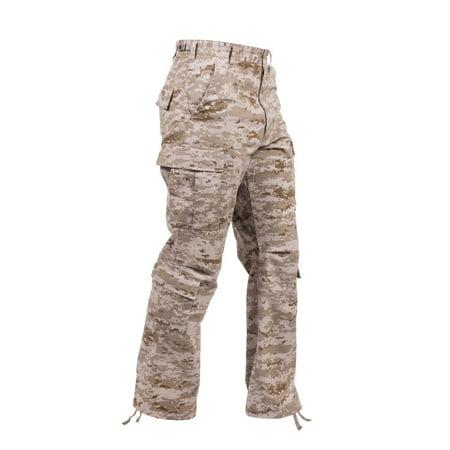 Rothco Vintage Camo Paratrooper Fatigue Pants, Desert Digital Camo