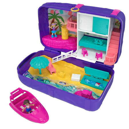Polly Pocket Hidden Places Beach Vibes Backpack with 2 Dolls