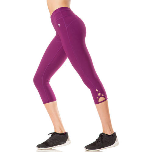 Impact by Jillian Michaels Women's Performance Compression Workout Capri With Lace - Up Detail