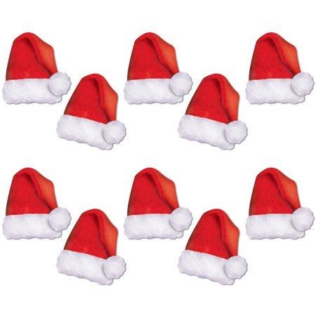 Pack of 120 Mini Red and White Santa Hat Cutouts Christmas Wall Decorations 5