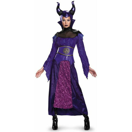 Disney The Descendants Maleficent Deluxe Women's Adult Halloween Costume (Disney Adult Pocahontas Costume)