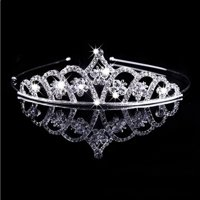 Wedding Rhinestone Bridal Princess Silver Crystal Hair Tiara Headband Crown Vei Comb Prom for Party Wedding Pageant for Girls Dress Up Costumes Accessories