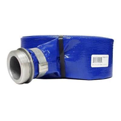 262051 Apache 25' PVC Lay Flat Discharge Hose Coupled (Apache Barrel)