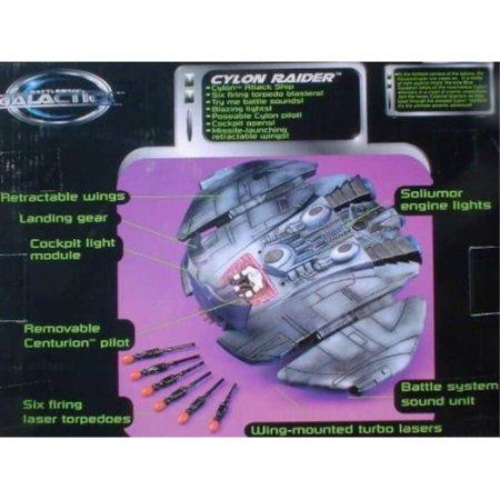 Classic Battlestar Galactica Electronic CYLON RAIDER Attack Ship (1996 (Battlestar Galactica Cylon Raider)