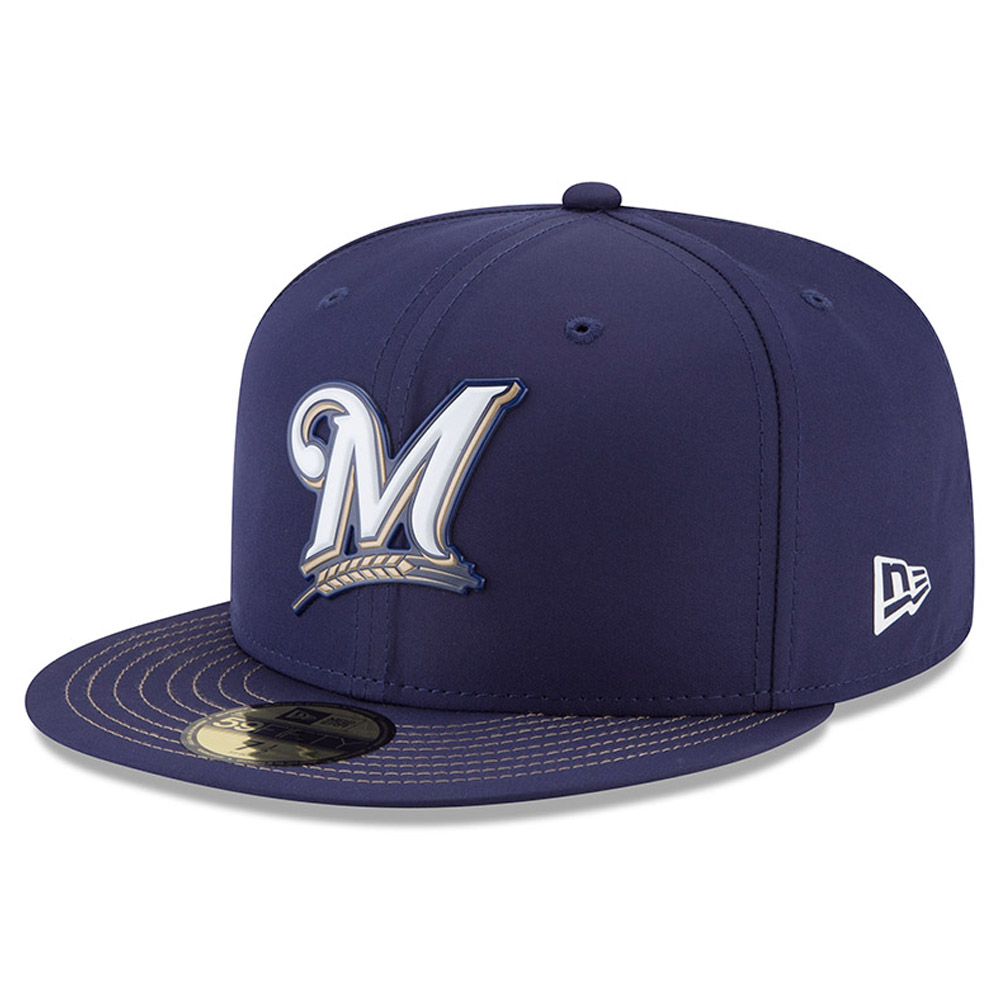 Milwaukee Brewers New Era 2018 On-Field Prolight Batting Practice 59FIFTY Fitted Hat - Navy