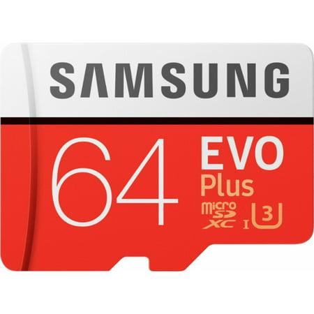 SAMSUNG 64GB EVO Class 10 Micro SDXC Card with Adapter - MB-MP64GA/AM