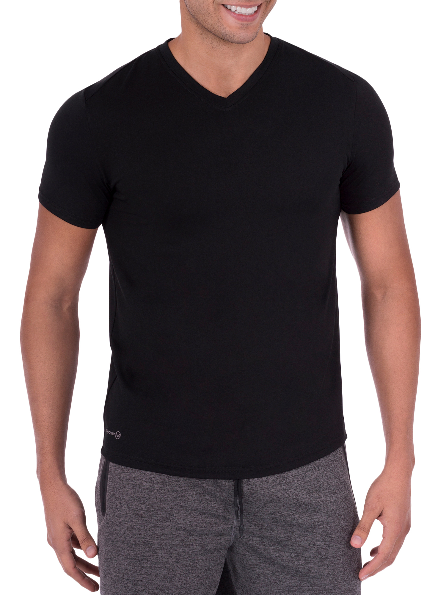 Big Men's Performance Activewear Short Sleeve V-Neck Tee