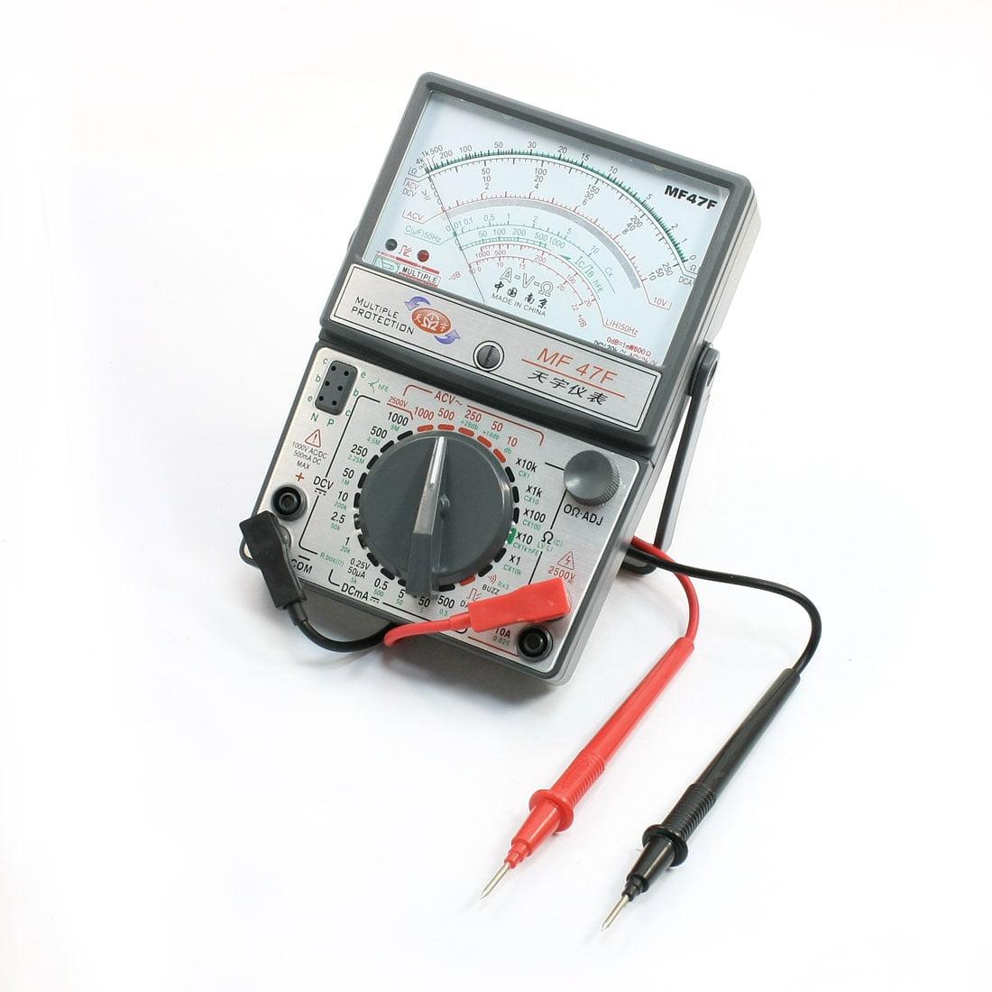 Unique Bargains Ohm AC DC Current Voltage Measuring MF47F Multimeter w Probe Leads