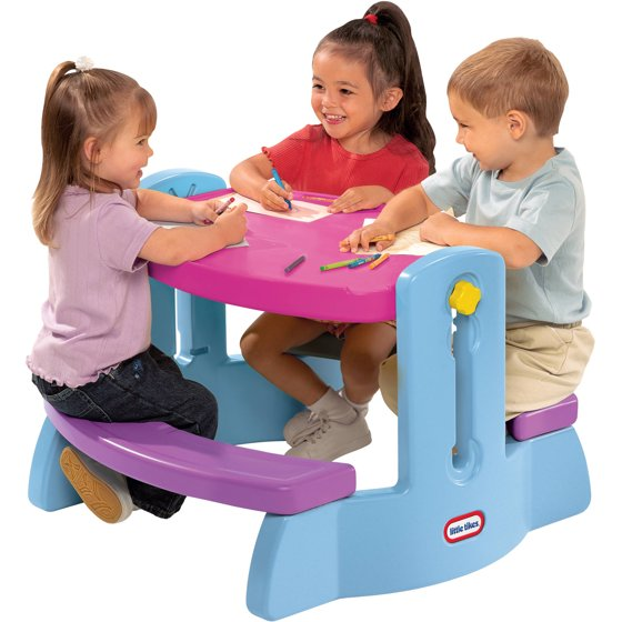 Little Tikes Adjust N Draw Table, Purple - Walmart.com