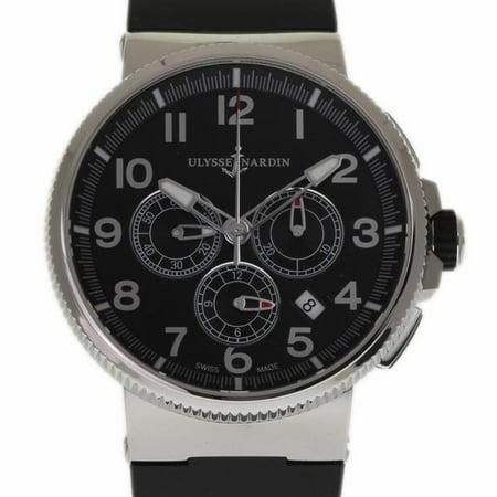 Pre-Owned Ulysse Nardin Marine 1503-150 Steel  Watch (Certified Authentic & (Ulysse Nardin Le Locle Suisse Marine Chronometer)