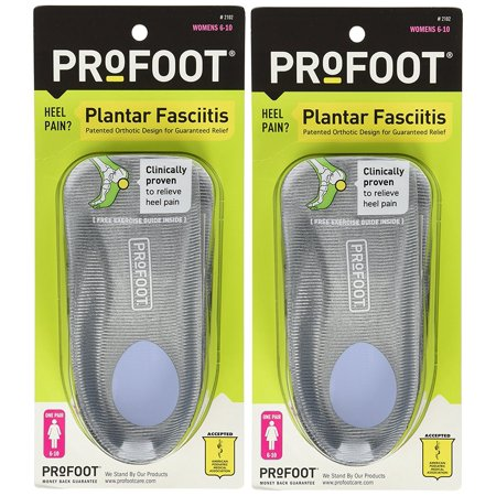 Plantar Fasciitis Orthotics, Women's Size 6-10, 2 Pairs, Lightweight to help prevent fatigue By
