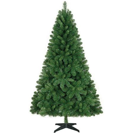 Holiday Time Non-Lit 6.5' Jackson Christmas Tree, Green ...