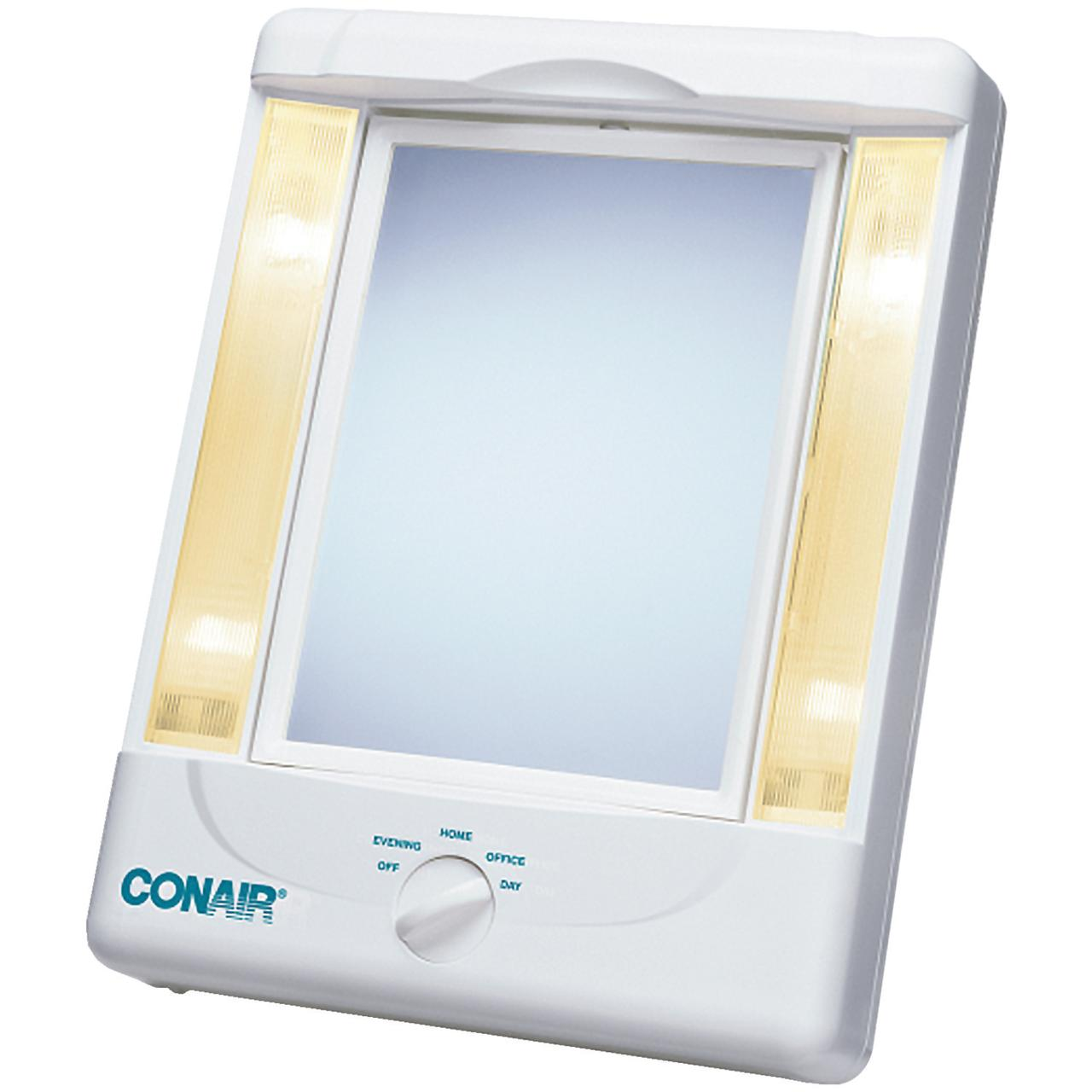 Two-Sided Lighted Makeup Mirror with 4 light settings and 3 Panels