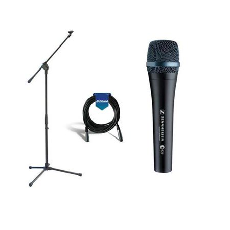 - Sennheiser e 935 Wired Professional Cardioid Dynamic Handheld Vocal Microphone with Clip - Bundle With Samson MK10 Lightweight Boom Mic Stand, 20' Hea