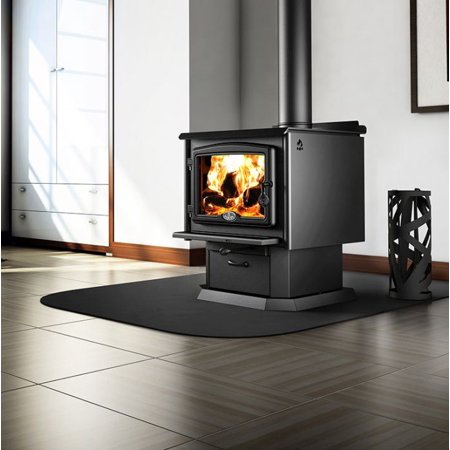 Osburn 2300 Wood Stove w/Blower, Black Overlay and Pedestal ()