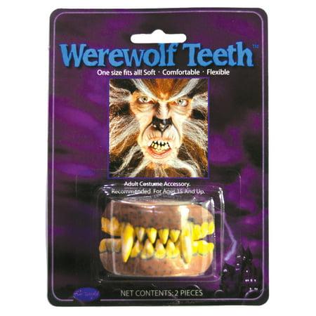 Werewolf Teeth Adult Halloween Accessory