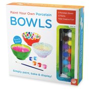 Paint Your Own Porcelain Bowls - Creative Activities - 3 Pieces