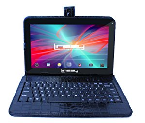"""LINSAY 10.1"""" 2GB RAM 32GB Storage Android 10 Tablet with keyboard Black Crocodile Style"""