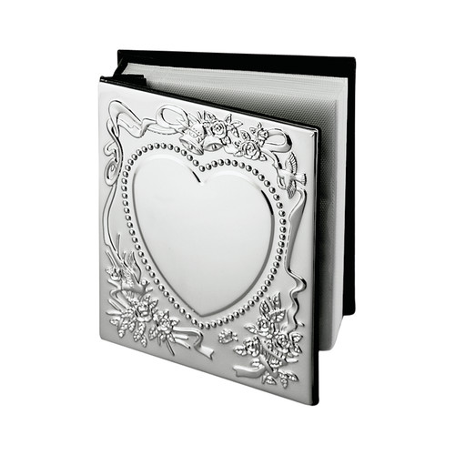 Creative Gifts International 024404 4 x 6 in. Nickel Plated Holds with 100 - Sweetheart Album