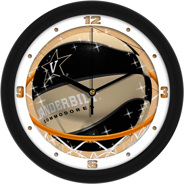Vanderbilt Slam Dunk Wall Clock