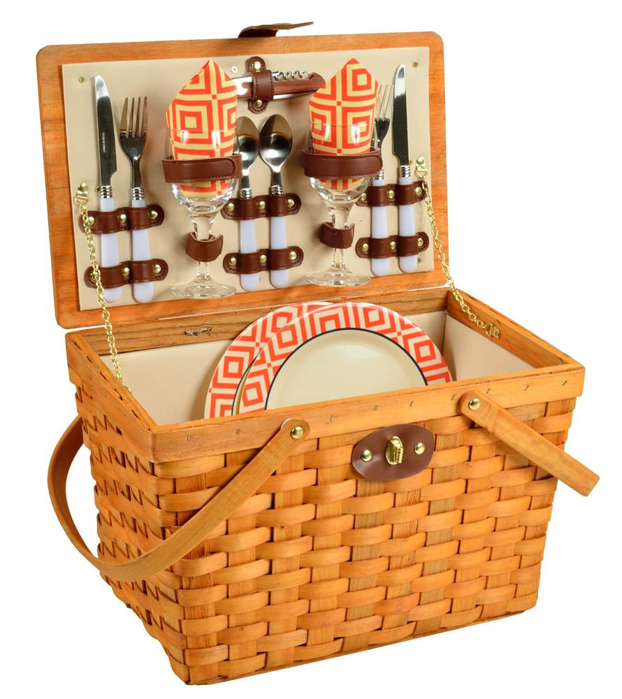 Frisco Picnic Basket for 2