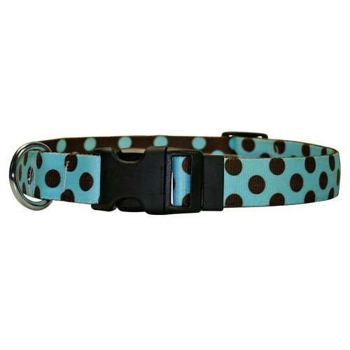 Yellow Dog Design Polka Dot Standard Collar - Medium