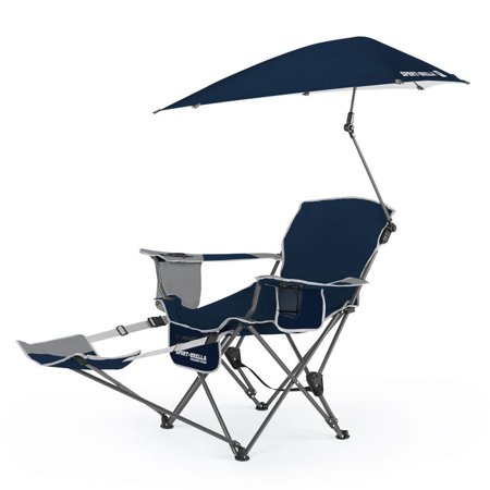 Sport-Brella 3-Position Recliner Chair with Full Coverage Umbrella