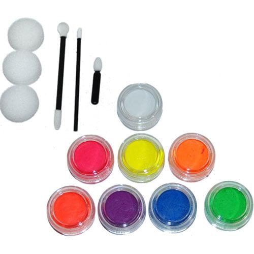 8 Color 10Ml Face Paint Fl Set Custom Body Art Fluorescent Kt