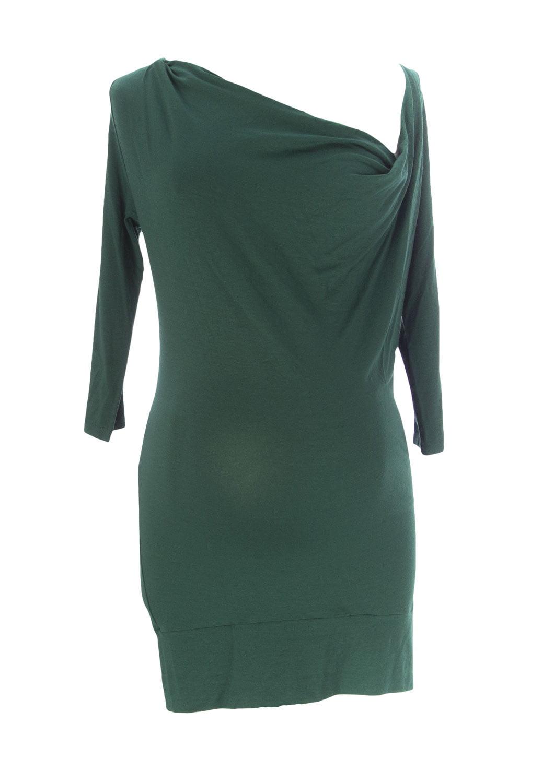 9FASHION Maternity Women's Alexia Tunic Blouse, Small, Green