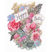 Paper d'Art Flowers Happy Birthday 3D Pop Up Greeting Card (Other)