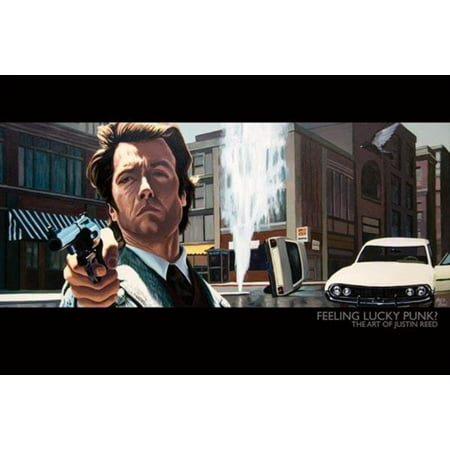 Feeling Lucky Punk Art of Justin Reed Dirty Harry Clint Eastwood Poster - 36x24 inch ()