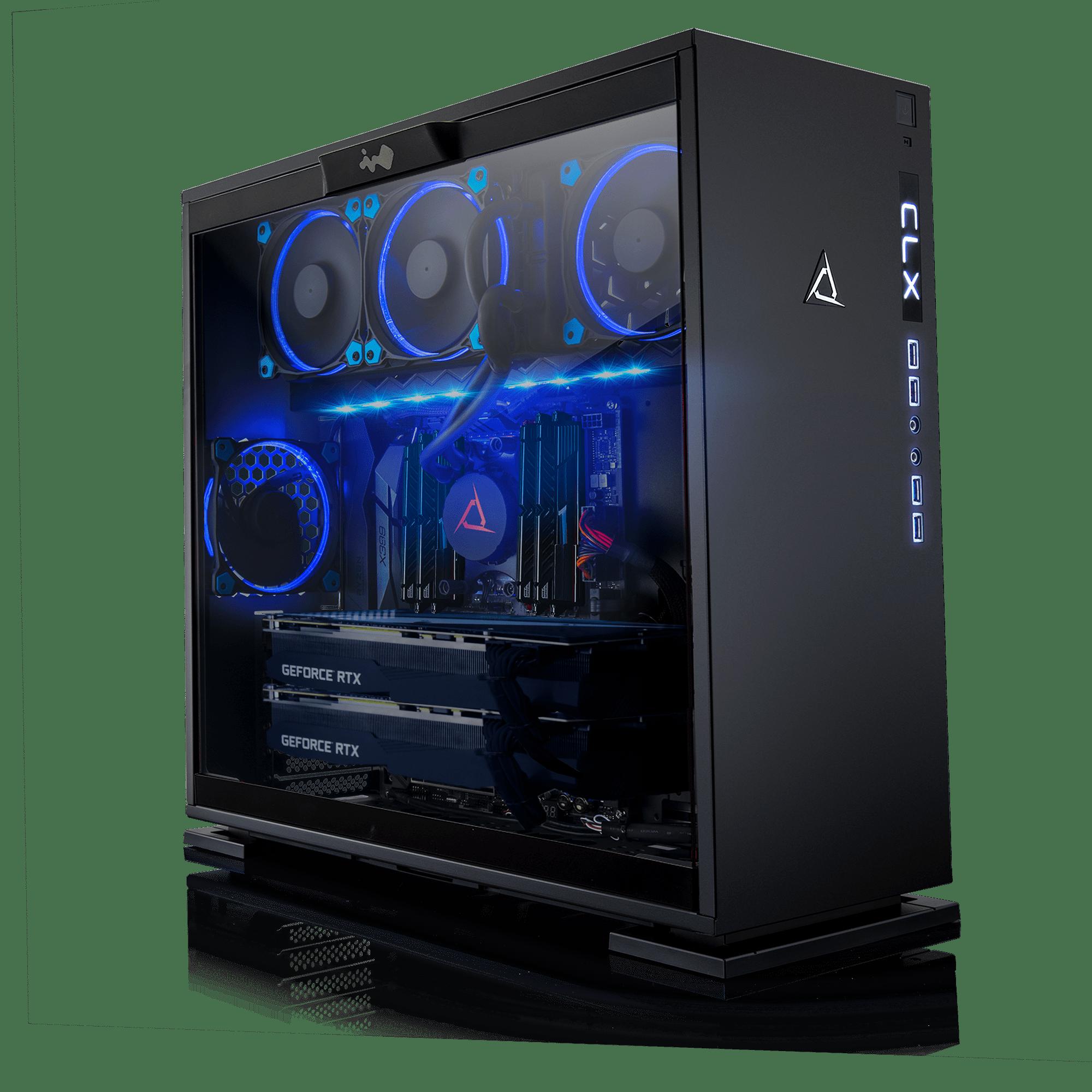 CLX Set GAMING PC AMD Ryzen Threadripper 2990WX 3.40GHz (32 Cores) 32GB DDR4 6TB HDD & 960GB SSD Dual NVIDIA RTX 2080 Ti 11GB GDDR6 in SLI MS Windows 10 64-Bit