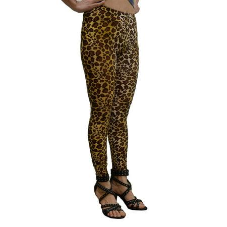 Vivian's Fashions Long Leggings - Leopard (Junior and Junior Plus Sizes) - Leopard Leggings