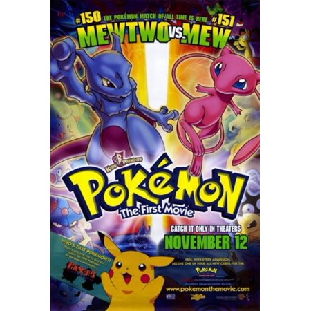 Pokemon The First Movie Movie Poster (11 x 17) - Walmart.com