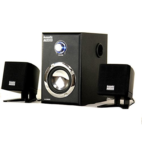 Acoustic Audio AA3009 Home 2.1 Speaker System for Multimedia Computer Gaming by Acoustic Audio by Goldwood