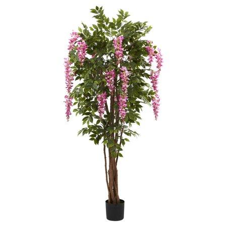 Wisteria Natural Hues Natural - Nearly Natural 6-1/2' Wisteria Silk Tree