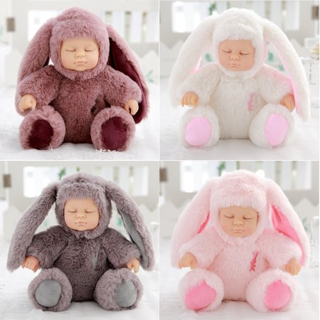 11 inch Real Life Reborn Babies Doll Soft Silicone Realistic Long Ear Baby Plush newborn Dolls for Baby Toys Thanksgiving Christmas Birthday Gift (Thanksgiving Toys)
