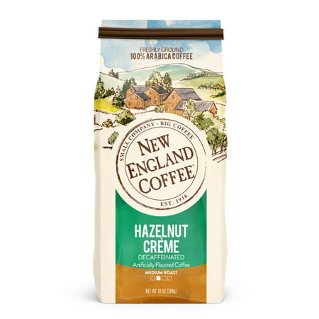 New England Coffee Decaffeinated Hazelnut Creme, 10 Oz. ()