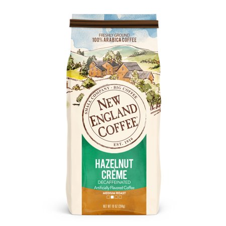 New England Coffee Decaffeinated Hazelnut Creme, 10